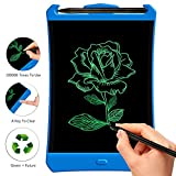 LCD Writing Tablet,8.5 inch Highlight Electronic drawing board for Kids drawing and learning gifts doodle pad e-writer Office Memo Pad Message Board(blue)