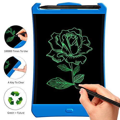 LCD Writing Tablet,8.5 inch Highlight Electronic drawing board for Kids drawing and learning gifts doodle pad e-writer Office Memo Pad Message Board(blue) by ZRXS