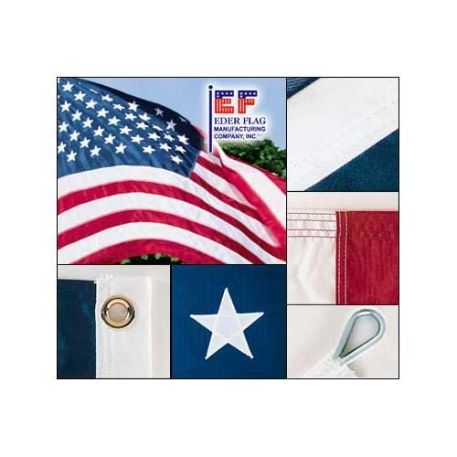 Valley Forge American Flag 10ft x 15ft Sewn Nylon by Flag – No Additions