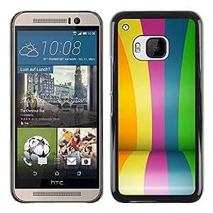 Caucho caso de Shell duro de la cubierta de accesorios de protección BY RAYDREAMMM - HTC One M9 - Coated Colorful Lines Stripes Fair