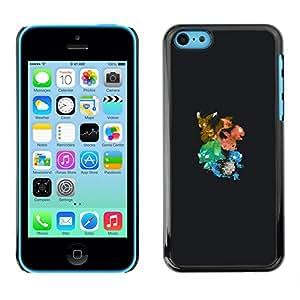 Caucho caso de Shell duro de la cubierta de accesorios de protección BY RAYDREAMMM - iPhone 5C - Resumen del monstruo de la salpicadura del empuje