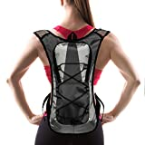 Hydration Pack with 1.5 L Water Backpack Bladder. Adjustable Straps. Ideal for Running, Cycling, Bike/hiking, Climbing. Lightweight (70 Oz) and Waterproof Means You'll Never Run Out of Water (Black)