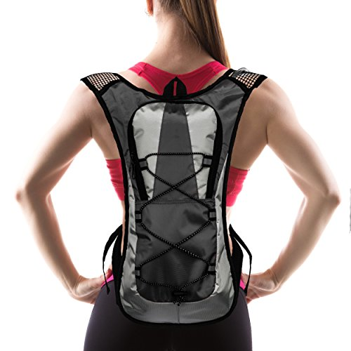 Hydration Pack with 1.5 L Water Backpack Bladder. Adjustable Straps. Ideal for Running, Cycling, Bike/hiking, Climbing. Lightweight (70 Oz) and Waterproof Means You'll Never Run Out of Water (Classic Handheld Water Purifier)