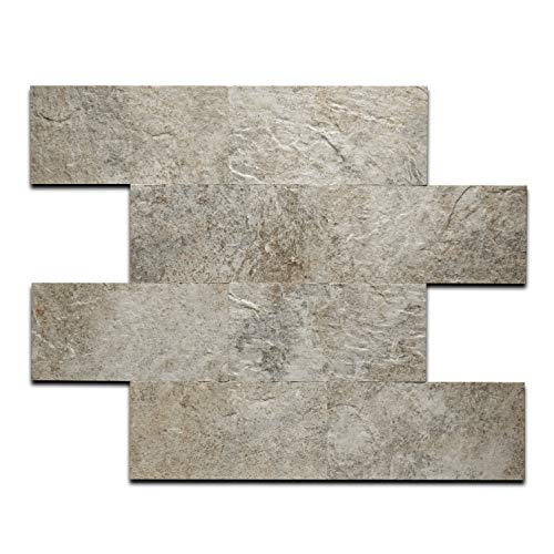 ARTESANIA MURO Peel and Stick Stone Wall Tiles Bricks, DIY Kitchen Bathroom Backsplash, Fire Proof, Water Proof, Anti-Mold, 12