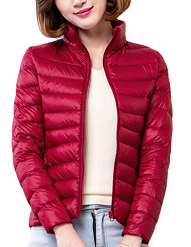 Down Stand Long today UK Short Puffer Jacket Womens Red Collar Sleeve w88AEqxIf