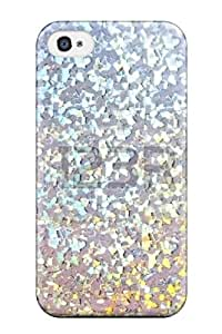 Ideal ZippyDoritEduard Case Cover For Iphone 4/4s(glittery Silver White ), Protective Stylish Case