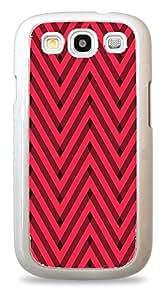 Glitter Rainbow Chevron Pattern White Silicone Case for Samsung Galaxy S3