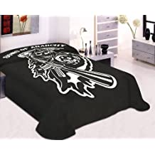 King Size Sons Of Anarchy Blanket- SOA Merchandise is Perfect for Home Decor, Gifts, Accessories, Memorabilia, Collectables-This is a Soft, Plush, Thick, Mink Blanket-THIS IS NOT A CHEAPLY MADE FLEECE THROW-Life Time Guarantee