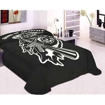 dga ride or die motorcycle biker babe queen size luxury royal plush blanket home. Black Bedroom Furniture Sets. Home Design Ideas