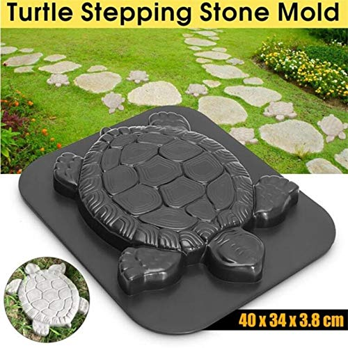 DIY Tortoise Path Maker Mold Garden Path Stone Molds Concrete Cement Mould with ABS Plastics with Cement Mortar Tortoise ()