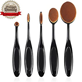 Professional Multifuction Makeup Oval Brush Set / Foundation Cream Concealer Blending and Contouring Extrasoft Brushes