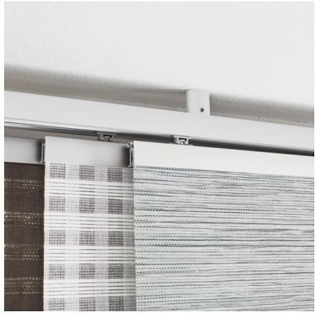 Ikea kvartal Soporte para techo para rieles de cortinas; en color blanco: Amazon.es: Hogar