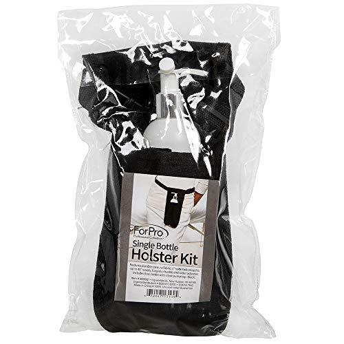 ForPro Single Bottle Holster Kit, Black, Adjustable Strap, Includes 8 Ounce Bottle, 6