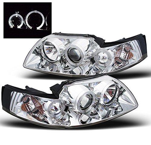 ZMAUTOPARTS Mustang Halo Projector Headlight Lamp Chrome GT SVT Cobra