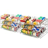 [2-Pack] Can Rack Organizer, EZOWare 3-Tier Canned Goods/Bottle Food Kitchen ...