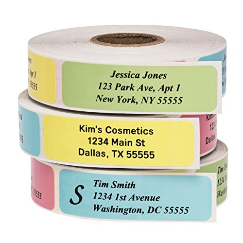Return Address Labels - Roll of 500 Personalized Labels (Multi-Color)