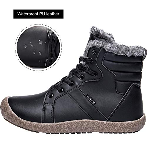 Short Waterproof Boots Fur Winter Shoes Black Ankle JIASUQI Snow Women's Sywq0TqFv