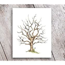 Fingerprint Family Tree 11x14 Print Guest Book Alternative UNFRAMED
