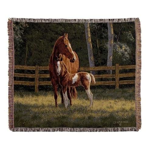 Cheap Josie Horses Mid-Size Deluxe Tapestry Throw Blanket Made in the USA for cheap hD3GeC9U