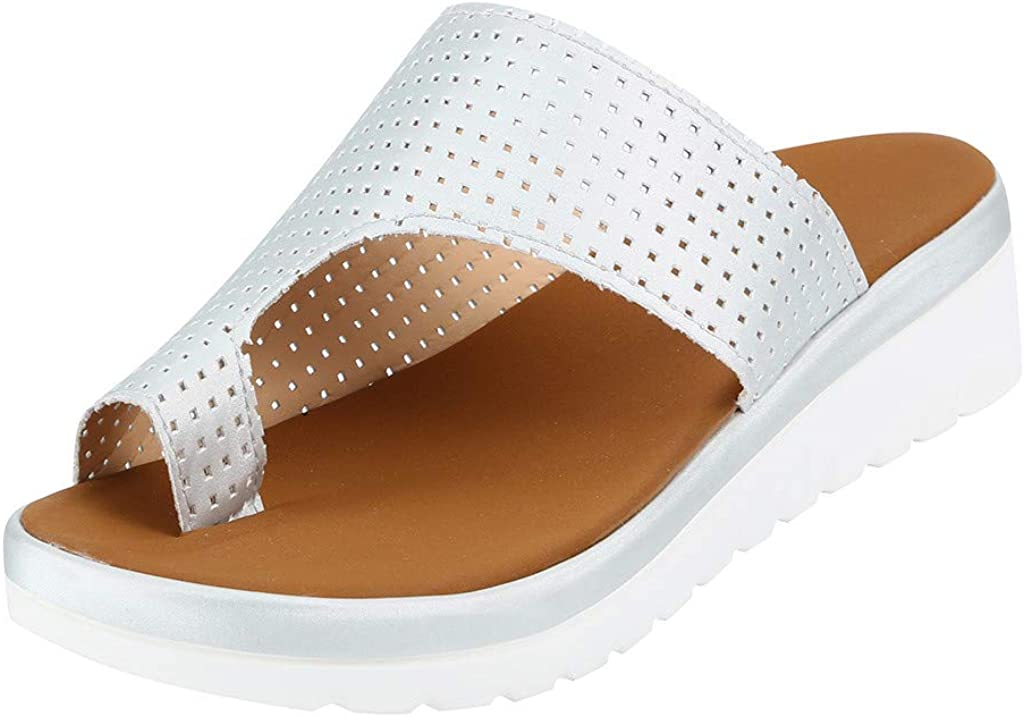 Dasuy Womens Slides Slippers Sandal with Arch Support Platform Wedges Sandals Comfortable Thick Bottomed Flip Flops Shoes