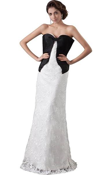 George Bride nuevo diseñador Punta boda vestido con Negro Decoración Vestidos de novia Vestidos de Boda