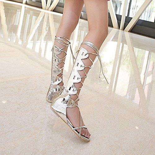 Femmes Sandales VulusValas Gold Chaussures Lacets Hvn6qOz