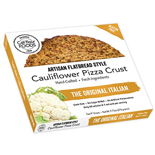 Low Carb Flour - Cali'flour Foods Gluten Free, Low Carb Cauliflower Original Italian Pizza Crusts - 1 Box - (2 Total Crusts Per Box)