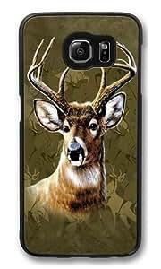Camo Deer Custom Samsung Galaxy S6/Samsung S6 Case Cover Polycarbonate Black