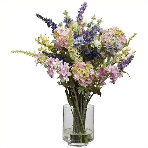 Nearly-Natural-4760-Lavender-and-Hydrangea-Silk-Flower-Arrangement-Mixed