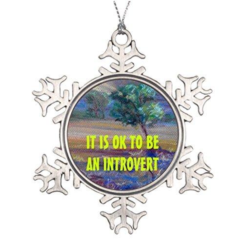 Metal Ornaments Personalized Family Christmas Snowflake Ornaments Socionics -