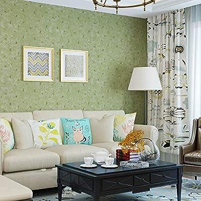 Blooming Wall Vintage Grass Green Wallpaper for Livingroom Bedroom  Kitchen,57 Square Ft,Emerald Green (GR131)