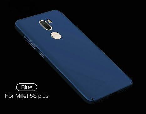 xinyunew Funda Xiaomi Mi 5S Plus, 360 Grados Protective Carcasa +Cristal Templado Protector de Pantalla para Ambas Caras PC Hard Skin Case Cover para ...