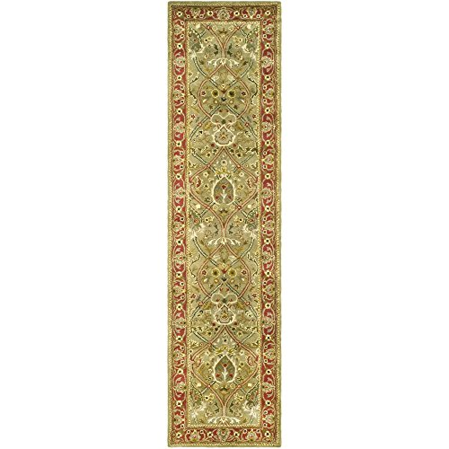 (Safavieh Persian Legend Collection PL819B Handmade Traditional Light Green and Rust Wool Runner (2'6