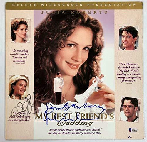 My Best FriendS Wedding Cast Autographed Signed Memorabilia Laserdisc Cover Beckett BAS COA Diaz 2