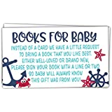50 Nautical Books for Baby Shower Request Cards - Invitation...