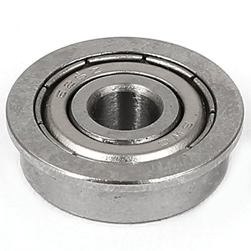 Uxcell a16031400ux0524 8mm x 18mm x 5mm Sealed Typel F688ZZ Flanged Ball Bearing Silver Tone, 0.7