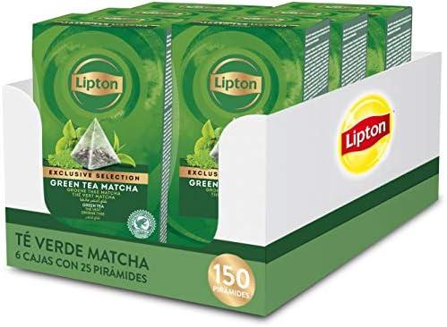 Lipton Selección Exclusiva Té Verde Matcha, 25 Pirámides, Pack de ...