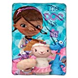 The Northwest Company Disney's Doc McStuffins We Care Together Micro Raschel Blanket, 46 by 60-Inch