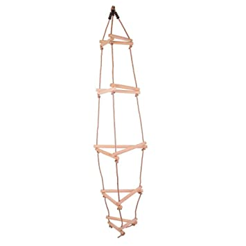 Bigjigs Toys Triangular Wooden Rope Ladder with 15 Rungs for ...