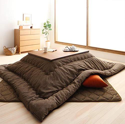 上質な多色織りジャガード生地 こたつ掛け布団 単品 4尺長方形 80×120cm 天板対応 (ブラウン)  ブラウン B07M8T937B