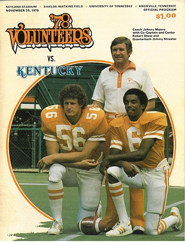 RDB Holdings & Consulting CTBL-020359 Tennessee Volunteers VS Kentucky Wildcats College Football Game Program - November 2544; 1978 - Minor Cover Wear from RDB Holdings & Consulting