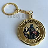 x-men Apocalypse Gold Plated Collectible Challenge Coin in clear case and keychain, Poker Card Guard, Golf Ball Marker, paperweight + free sticker by Lucky Donk