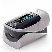 Blood Oximeter Finger Clip Blood Oxygen Saturation Detector Pulse Monitor Gray