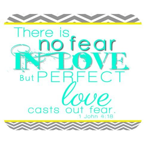 Free Design Cloth Cover Rectangle Mouse Pad 9.84x7.87 Inches- Bible Verse There is no fear in Love but Perfect love casts out fear 1 John 4:18 with Grey White Chevron Pattern