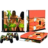 Mod Freakz Console and Controller Vinyl Skin Set - Girl Boobs Kissing Sexy for Playstation 4