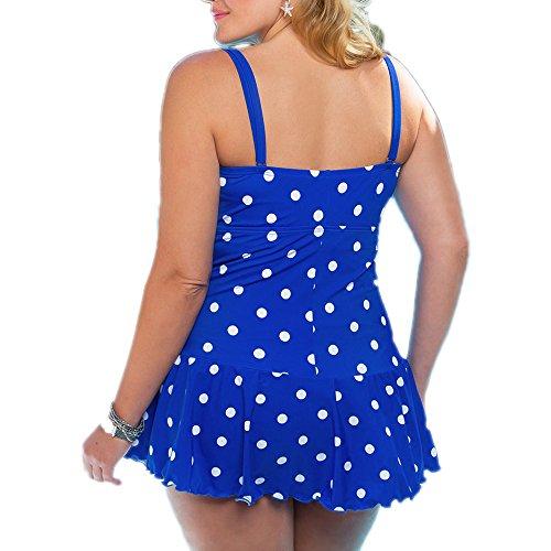 KINDOYO Traje de Baño Tankini Bañador de Para Mujer Bikini Clásico encantador Azul