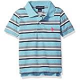 U.S. Polo Assn. Big Boys' Short Sleeve Yarn Dye Pique Polo Top, Capri Heather, 10/12