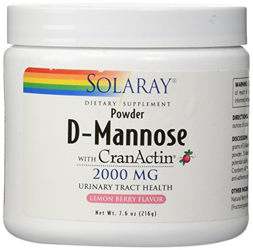 - Solaray D-Mannose with cranactin Powder Lemon Berry, 216 Gram