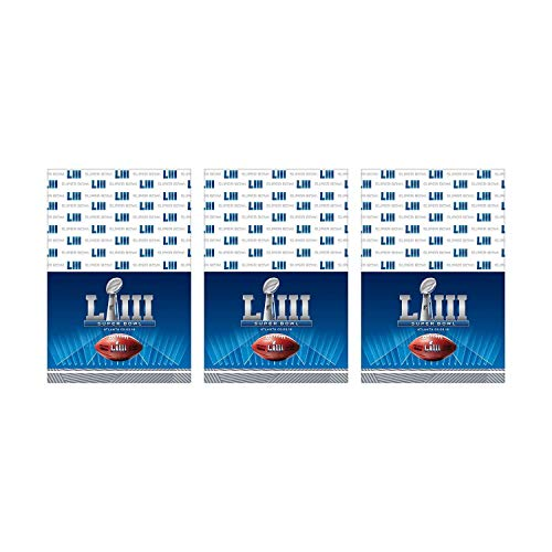 Super Bowl 53 Tablecover Value Party Pack (3ct) ()