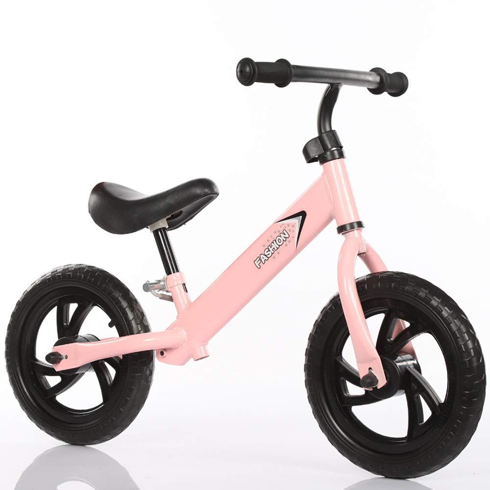 rose Foam wheel MEILA No Pedal   Training Vélo Léger   Vélo Siège Réglable Sport   Walker Push Bike Marche Vélo Premier Vélo Cadeau D'anniversaire (Couleur   vert, Taille   blanc tire)